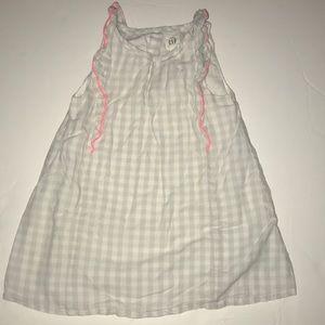 Baby Gap gray and white dress
